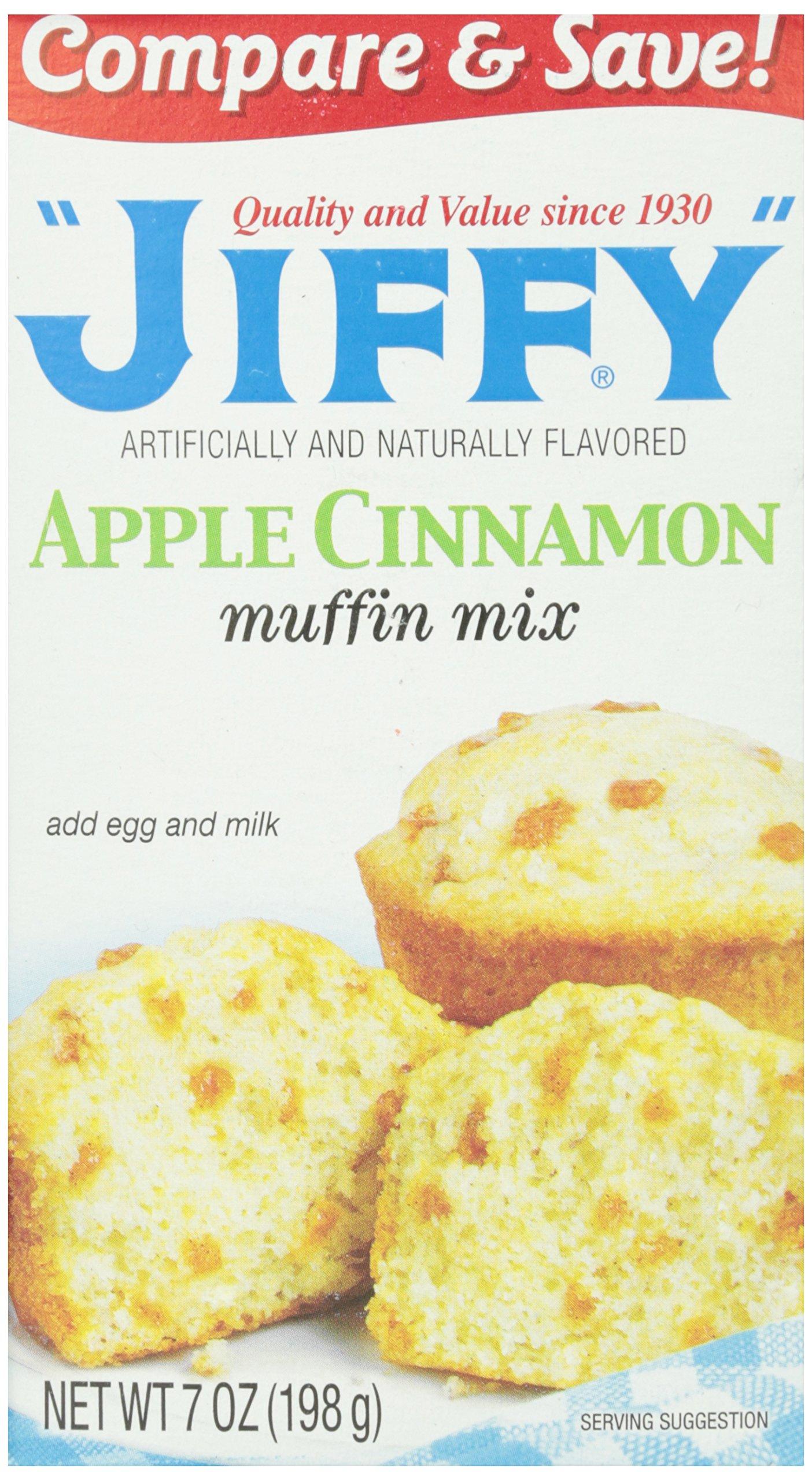 Jiffy Muffin Mix, Apple Cinnamon, 7 oz