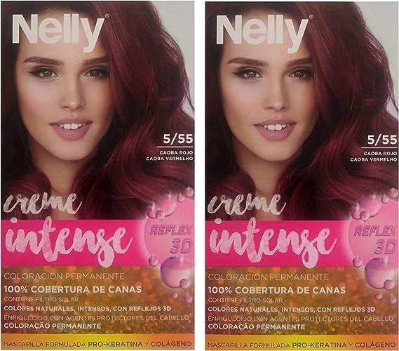 Nelly T/P Nelly 5/55 Caoba Rojo Duplo 3 Unidades 100 ml ...
