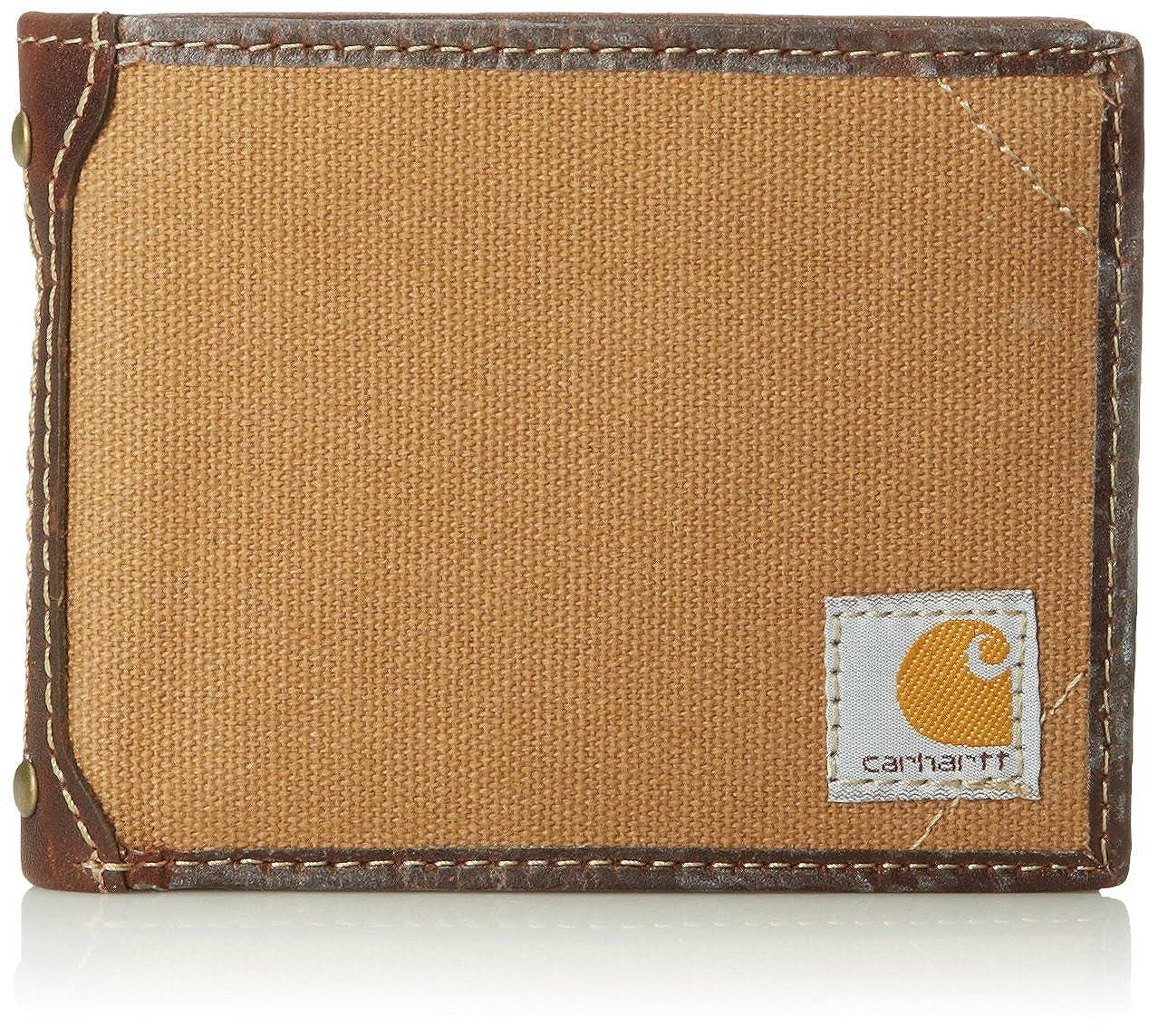 Carhartt Men's Canvas Passcase Wallet Duck Brown One Size 61-2216-20