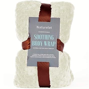 Naturelet – Saco térmico terapéutico de semillas y lavanda para microondas o congelador ideal para articulaciones Termoterapia 50 cm (Blanco)