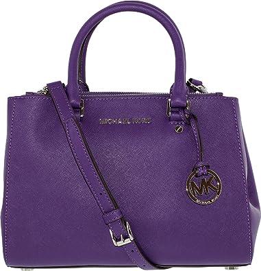 f840d0f204b5 Michael Kors Dressy Sutton Medium Satchel in Grape Leather  Handbags ...