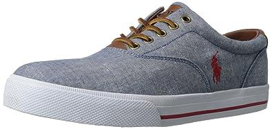 Polo Ralph Lauren Men\u0027s Vaughn Sneaker,Blue/Red,8 ...