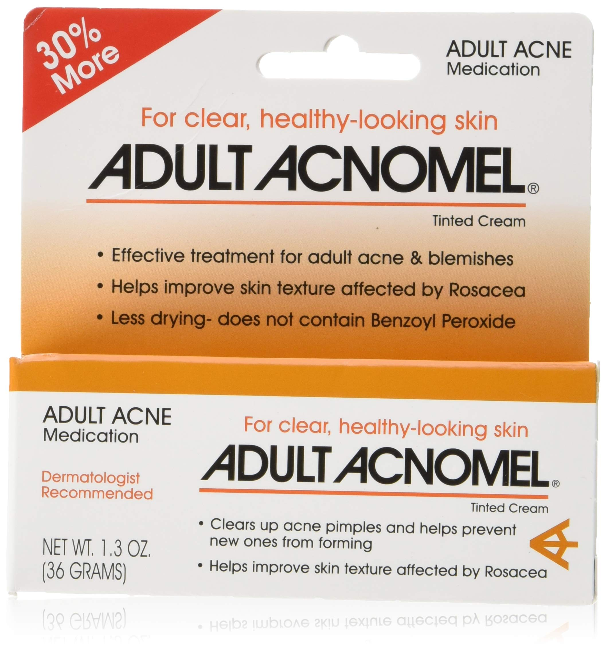 Adult Acnomel Tinted Cream 1.30 oz (Pack of 2)