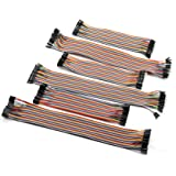 ZYAMY 240PCS Dupont Line Set Male to Male, Male to Female, Female to Female Dupont Cable Connector Multicolor Jumper Wire for Breadboard 20cm + 30cm
