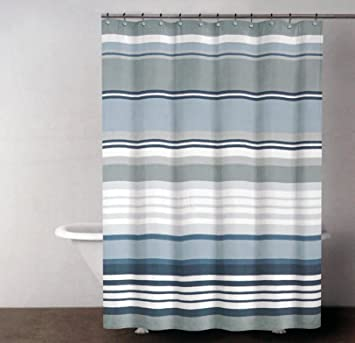Amazon.com: DKNY Fabric Shower Curtain Urban Lines -- Magnet Grey ...
