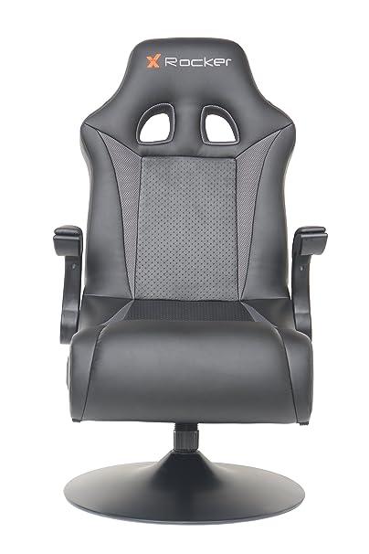 X Rocker 5128301 2.1 Wireless Bluetooth Audi Pedestal Video Gaming Chair Black