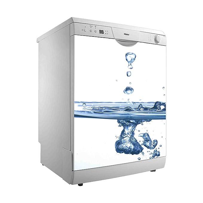 Vinilo para Lavavajillas Gotas de Agua cayendo | Varias Medidas 50 x 48 cm | Adhesivo Resistente y de Fácil Aplicación | Pegatina Adhesiva Decorativa ...