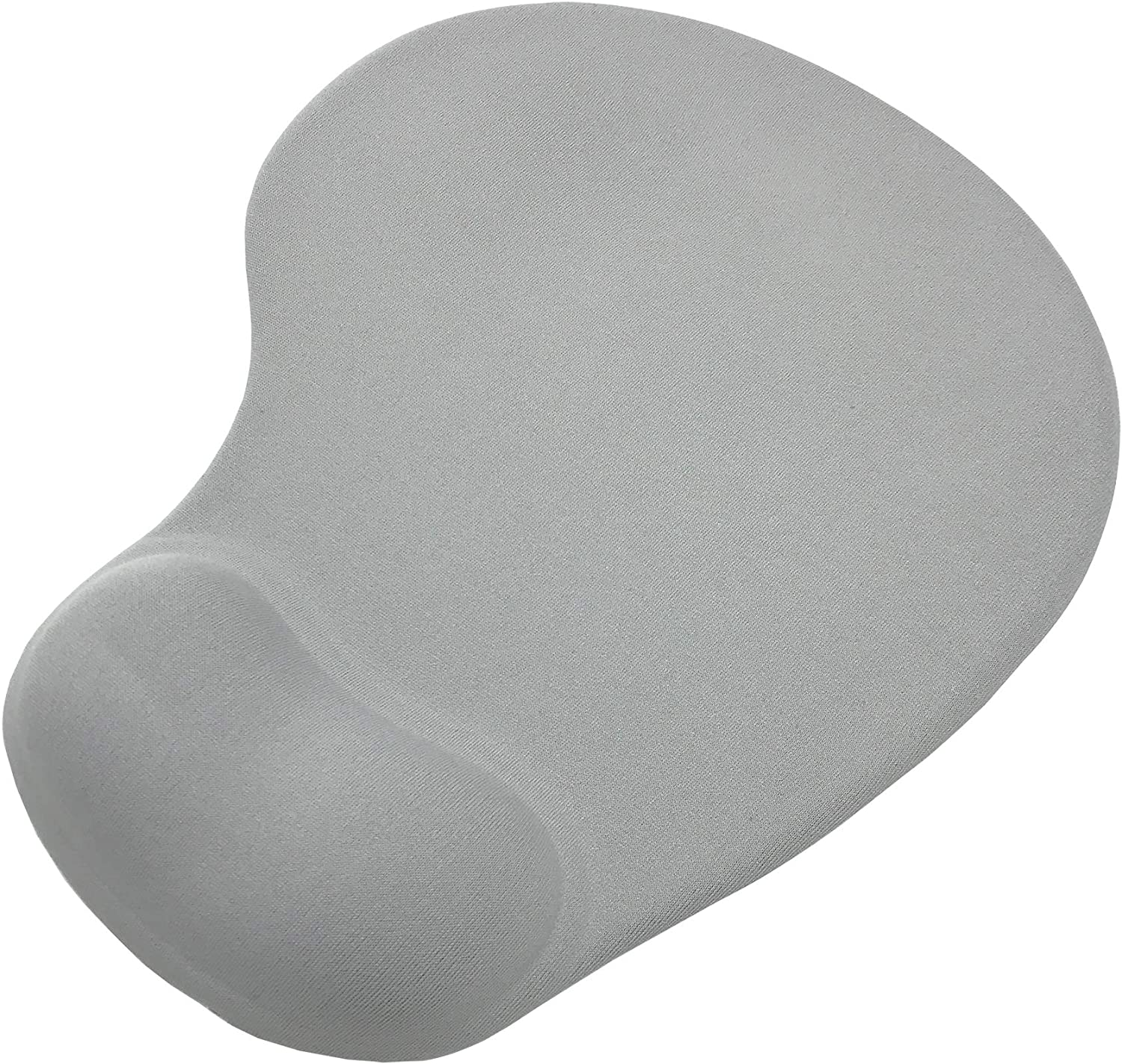 Tomer-Wharf Memory Foam Mouse Pad with Gel Wrist Rest,Comfortable Mouse Mat for Laptop Computer Desktop,Non-Slip Rubber Base Design,Gray