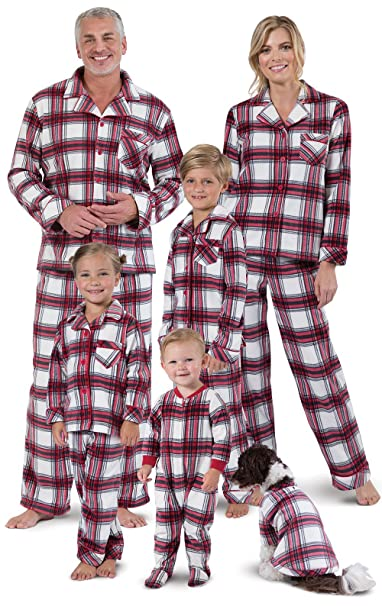 fleece christmas plaid pajama set