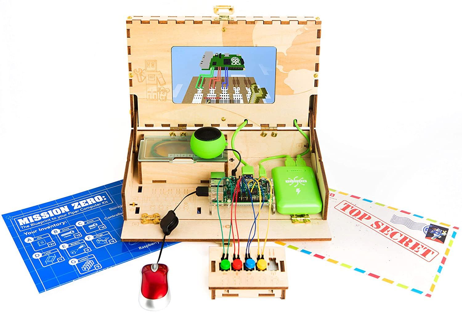 Piper Computer Kit 2018 Edition Teach Kids To Code Basic Electronics Toys For Snap Circuits Jr Sc 100 Stem Learning Toy With Minecraft Raspberry Pi Games