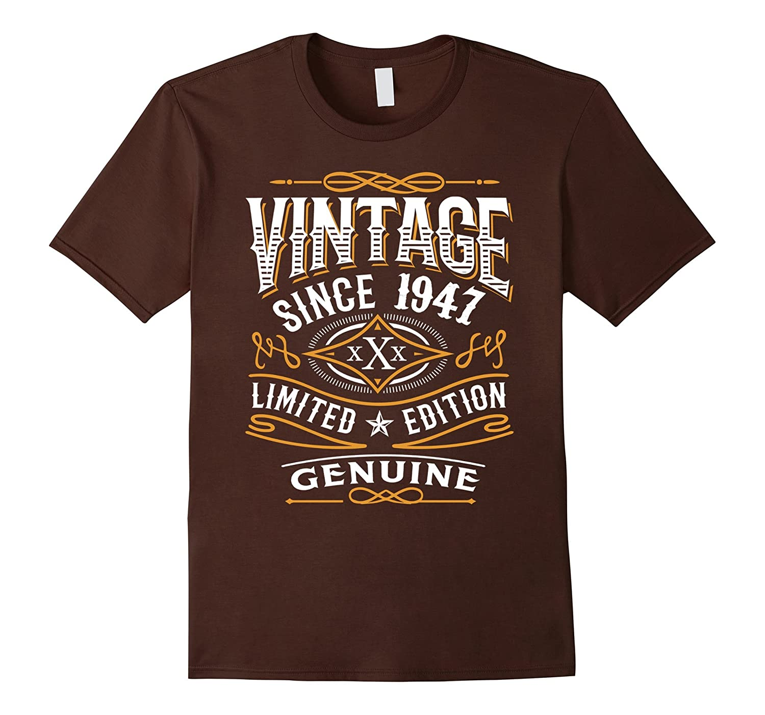 Vintage 1947, 70th Birthday Gift 70 Years Old Bday Shirt-BN