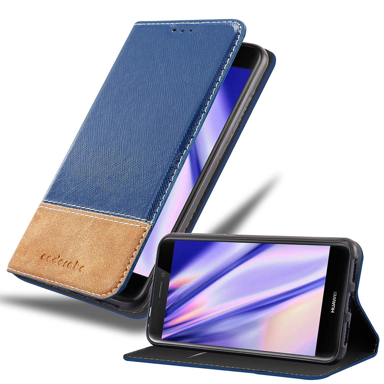 Cadorabo Funda Libro para Huawei P8 Lite 2017 en Azul MARRÓN ...
