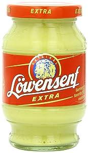 Lowensenf Mustard in Jar, Extra Hot, 9.3 Ounce
