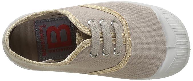 Bensimon Tennis Lacet Shinypiping, Sneaker Bambina, Rosa (Vieux Rose 437), 34 EU