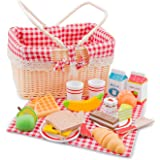 New Classic Toys - Picnic Basket Set - 27 Pcs. Childrens Pretend Playset