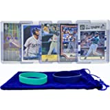 Ken Griffey Jr. Baseball Cards (5) ASSORTED Seattle Mariners Trading Card and Wristbands Gift Bundle