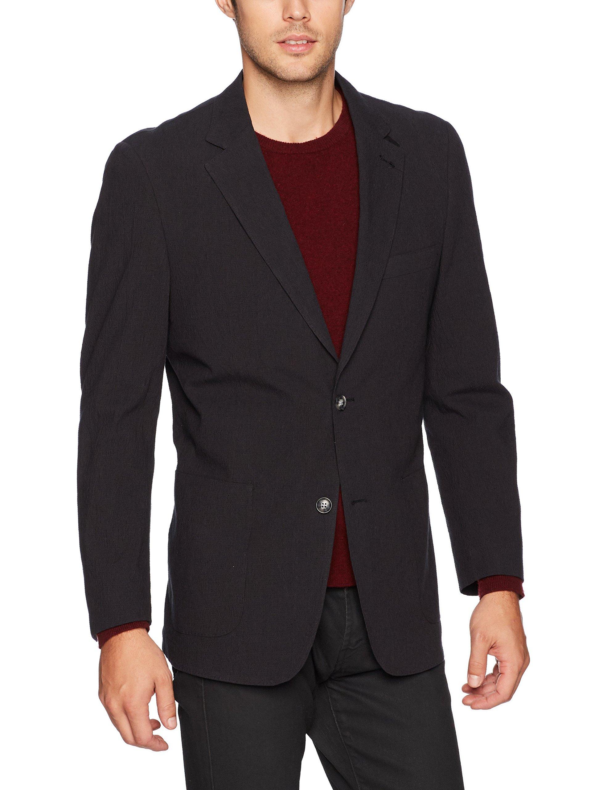 Kroon Men's Bono 2 Seersucker Cotton, Charcoal, 42 Regular