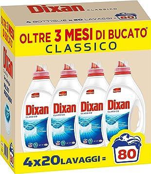 Dixan Líquido clásico 80 lavados – Detergente líquido para ...