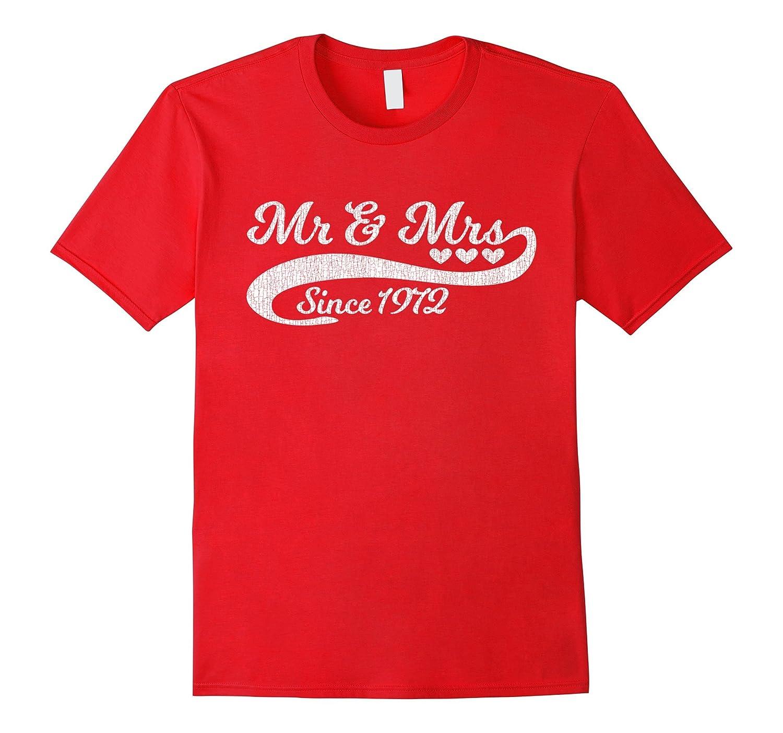 45th Wedding Anniversary T Shirt Vintage Distressed Loo-TH