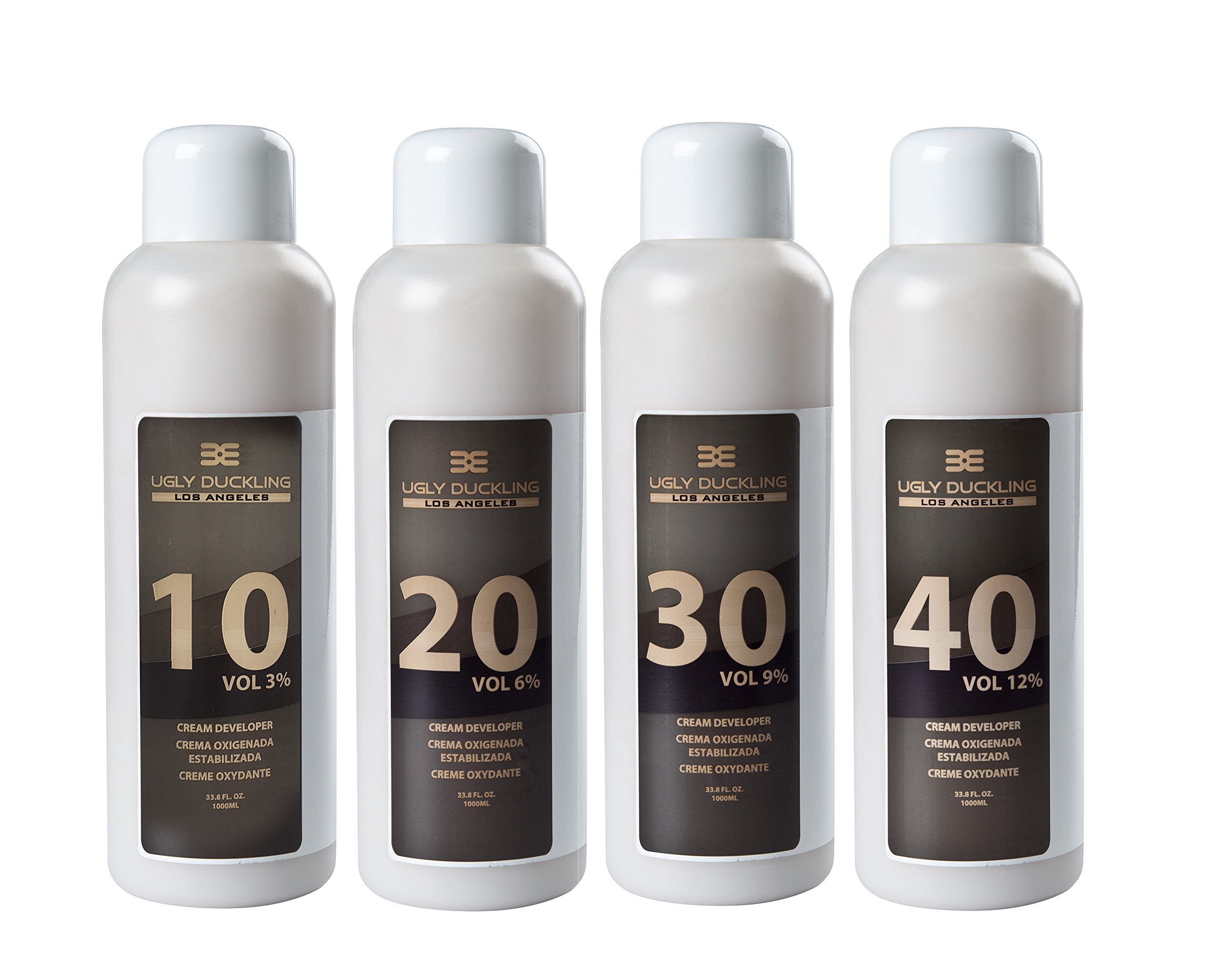 Ugly Duckling Los Angeles Professional 30 Volume (9%) CREAM DEVELOPER 33 oz (1 liter). For salon use, large size. For 2-3 levels of lift. Made in Europe by Ugly Duckling Los Angeles (Image #2)