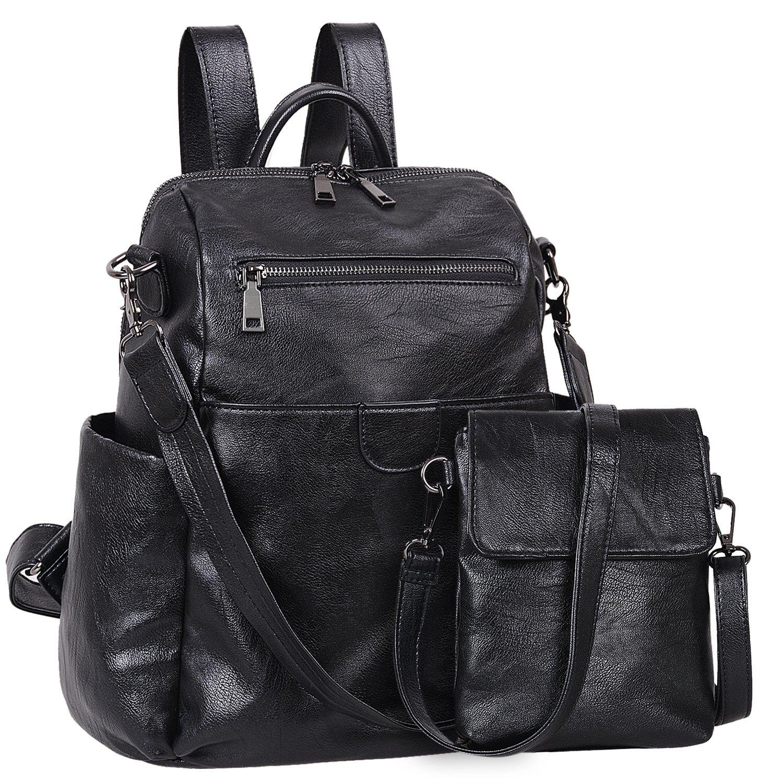 Jack&Chris Soft PU Leather Backpack Handbags for Women Satchel Shoulder Bag, WB212C