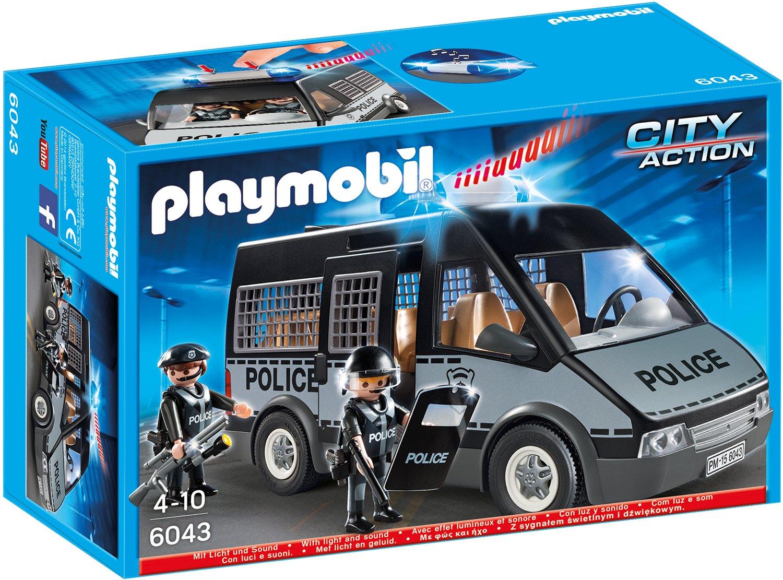 Playmobil 6043 - Polizei-Mannschaftswagen mit Licht und Sound ...