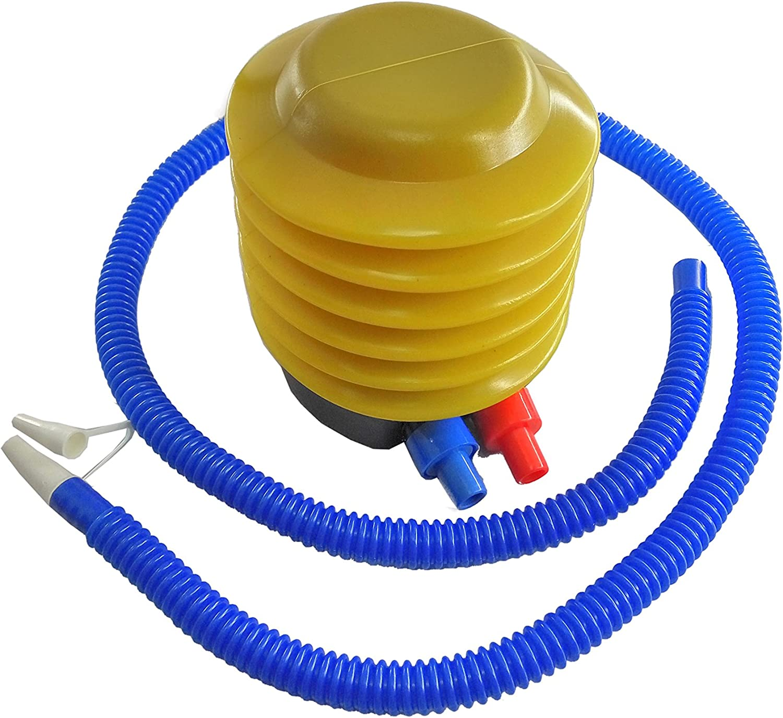 FixtureDisplays Plastic Bellows Foot Pump, Balloon Pump, Hand Pump, Air Pump, Bottle Bubble Cushion Inflator, Sports Inflatable Deflatable Yoga Exercise Balls 16986-FBA