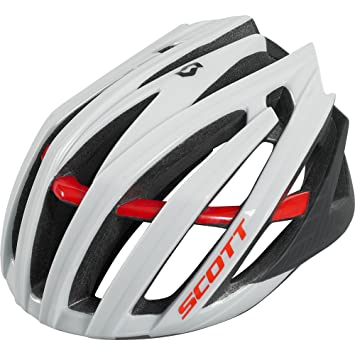 Scott Vanish-R - Casco de ciclismo, color blanco y rojo blanco/rojo