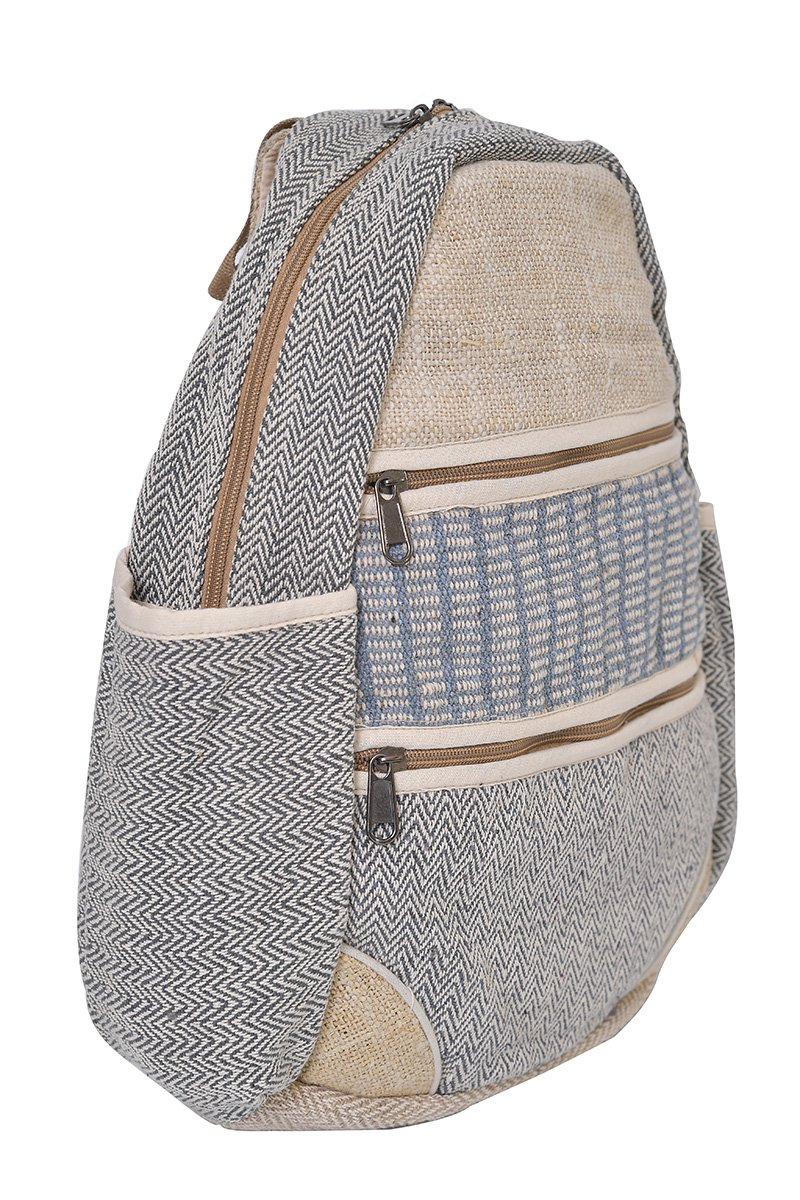 virblatt - mochila bandolera cáñamocomo ropa hippie para hombre y mujer - Gewieft: Amazon.es: Equipaje