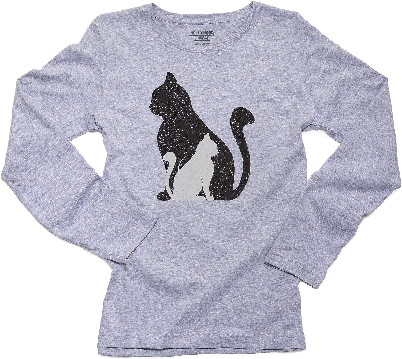 Cats Silhouette T-shirts Ladies /& Unisex