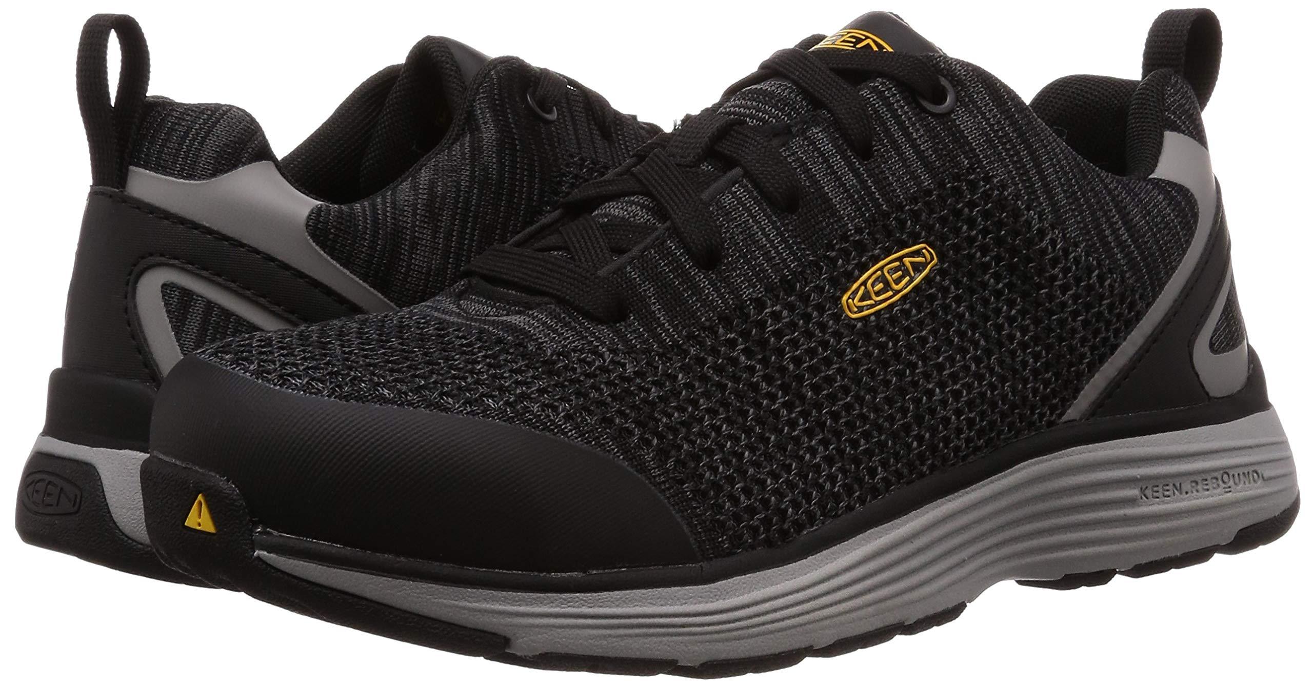 KEEN Utility Men's Sparta Industrial Shoe, Black/Grey Flannel, 12 D, 12D