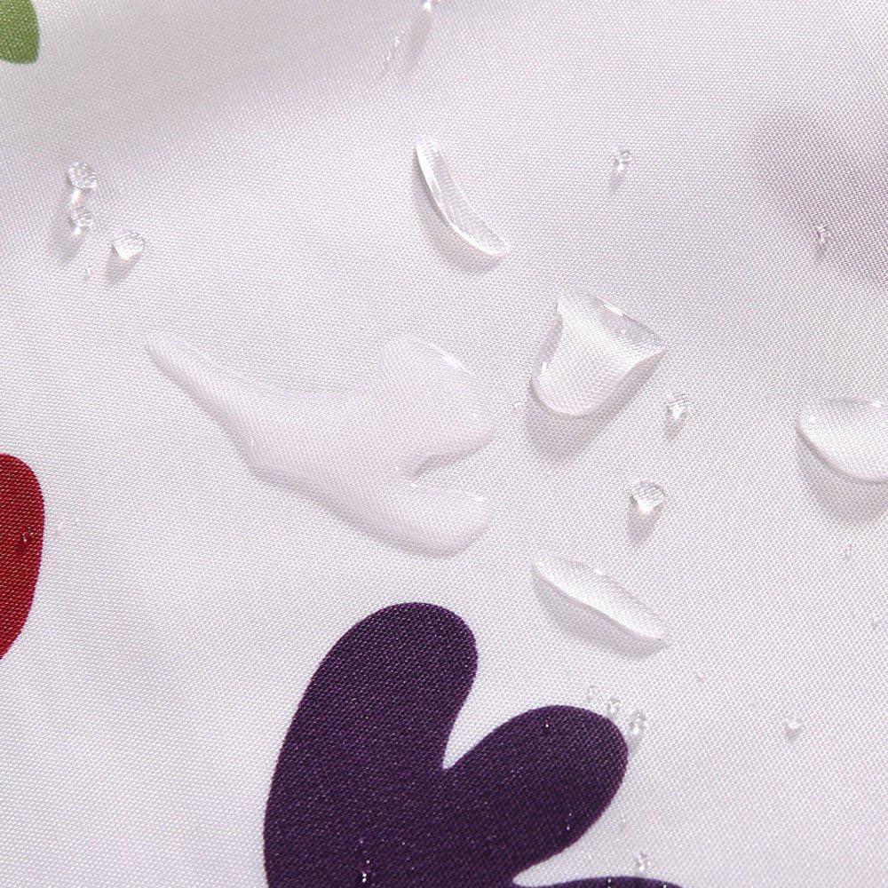 Bellissimo fiore stampato a prova di muffa impermeabile tenda doccia in tessuto di poliestere con ganci Red 180X180CM
