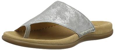 Gabor Shoes 43.700 Damen Pantoletten,Grau (60 Grau),39 EU