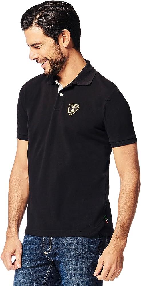 Automobili Lamborghini Hombre Pilota Ufficiale 63 Polo Shirt Black ...