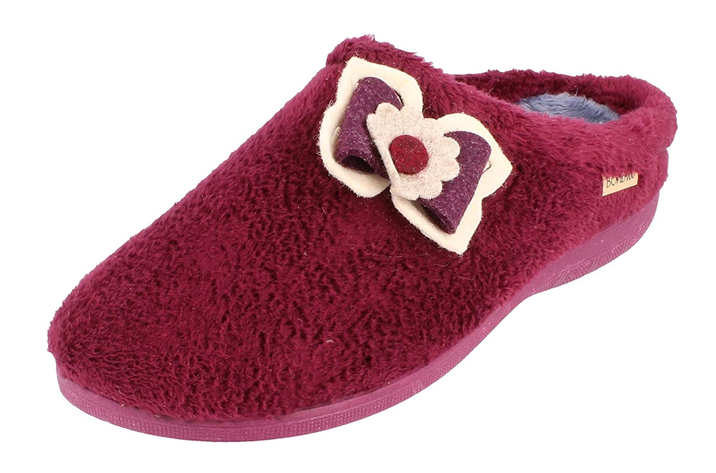 BONOVA - Zapatillas de Estar por casa para Mujer 40 EU Burdeos