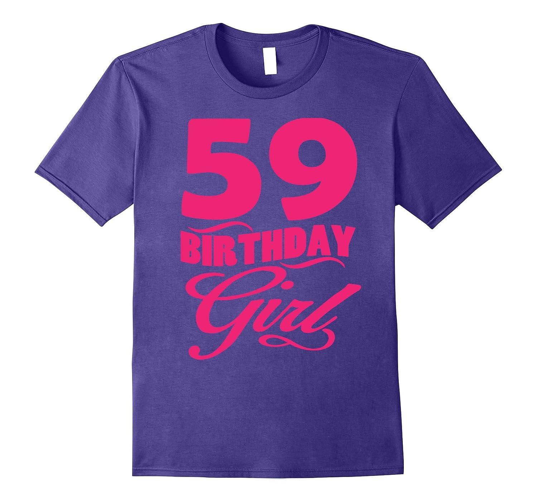 Womens 59th Birthday Girl 1958 Pink T-shirt-PL