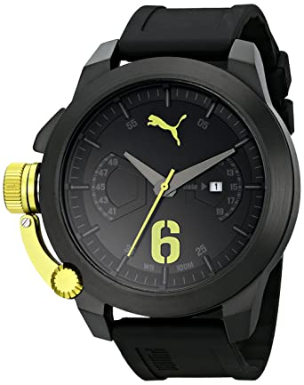 f5c7fb01110 PUMA Men s PU103781003 Advance Black Analog Display Japanese Quartz Black  Watch