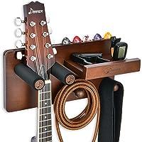 Donner Soporte Guitarra Pared Madera, Colgador Guitarra Pared, Gancho Multifuncional para Ukelele con Soporte Púas y 2…
