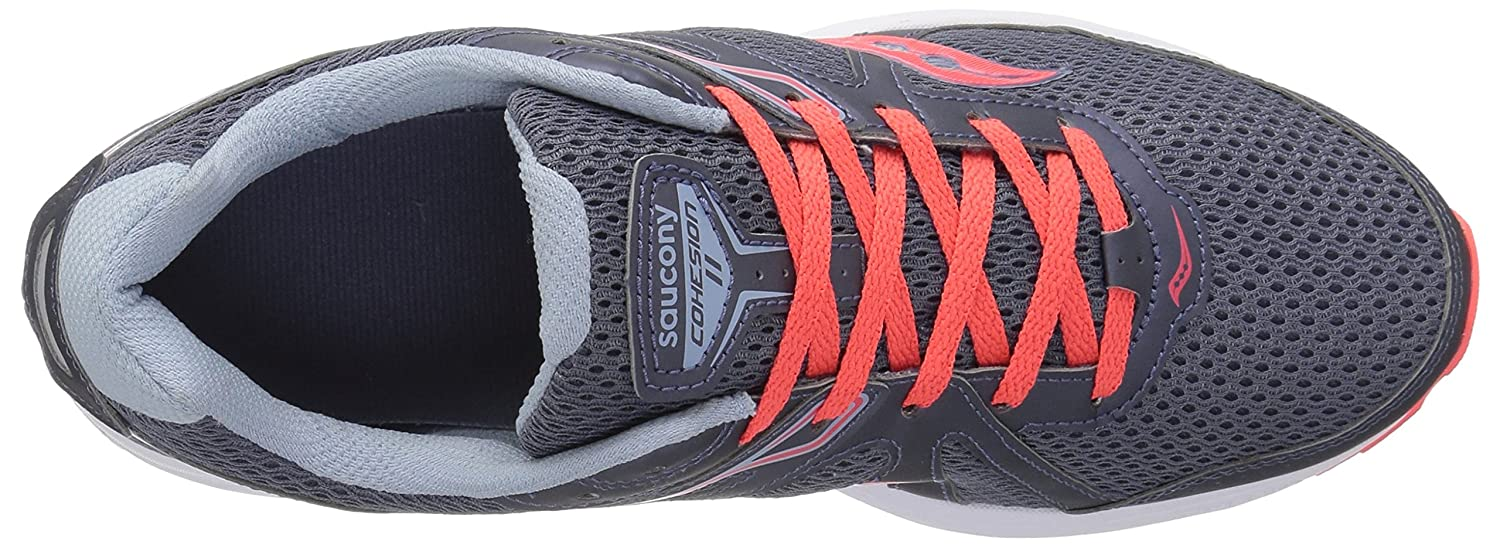 Saucony Women's Cohesion 11 Running Shoe B071JMD7Q7 10.5 B(M) US|Grey/Red
