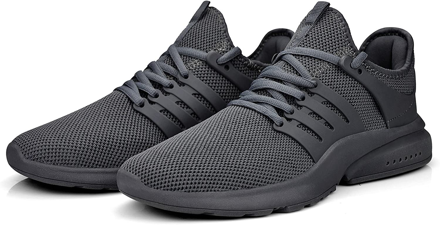 Amazon.com | ZOCAVIA Running Shoes for Men Knitted Fitness Athletic Shoes  Slip On Work Gym Tennis Shoes Gray Size 11.5 | Road Running