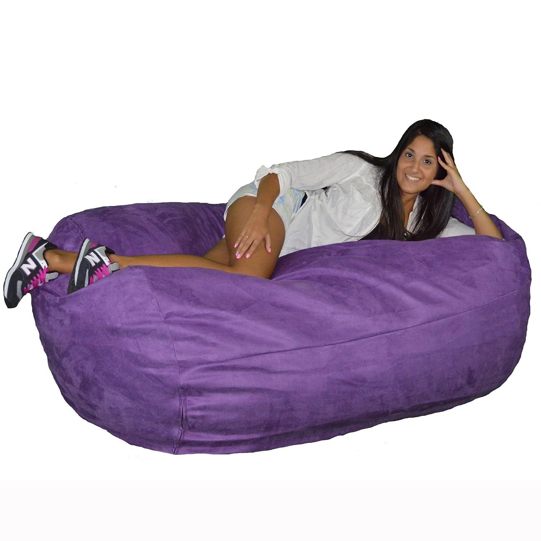 Amazon.com: Silla estilo beanbag con interior de trocitos de ...