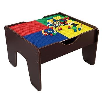 Lego and Train - Mesa de Actividades 2 en 1, Color Rojo: Amazon.es ...