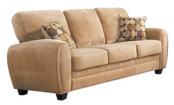 Amazon.com: Homelegance Rubin tela de felpa sofá, Cuero ...