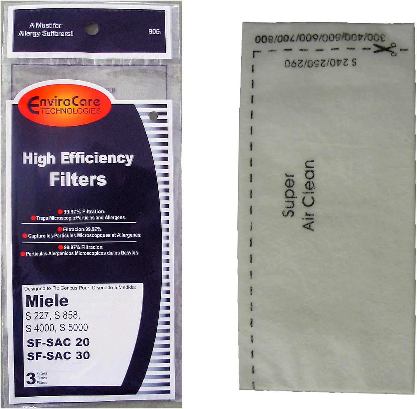 Miele Filter Aftermarket HEPA 07226160 Canister Vacuum Cleaners 4 S227 S858 S