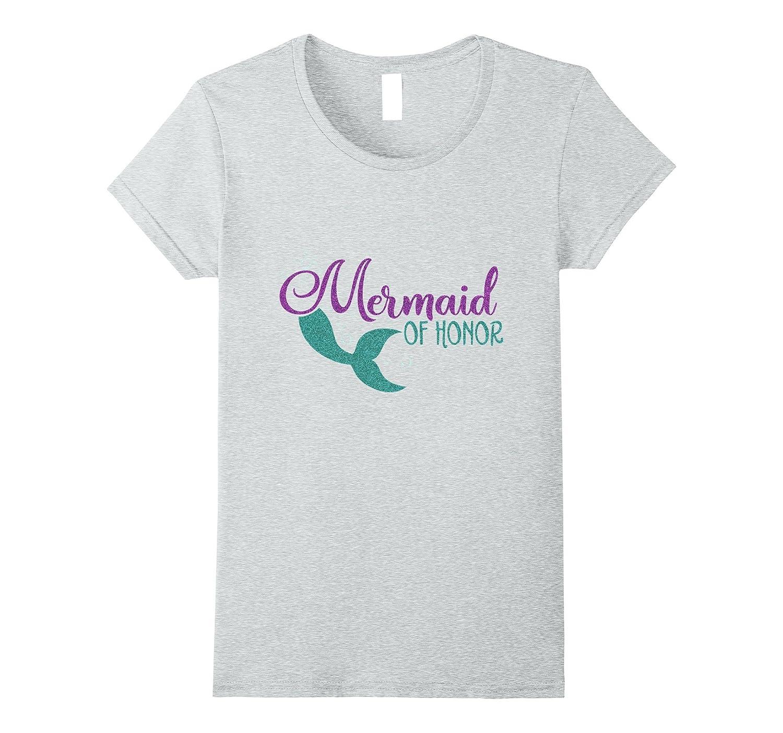 Womens Mermaid Honor Glitter Shirts-Awarplus