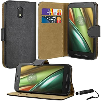 motorola e3 case. case collection® premium quality leather book style wallet flip cover with credit card \u0026 motorola e3 r