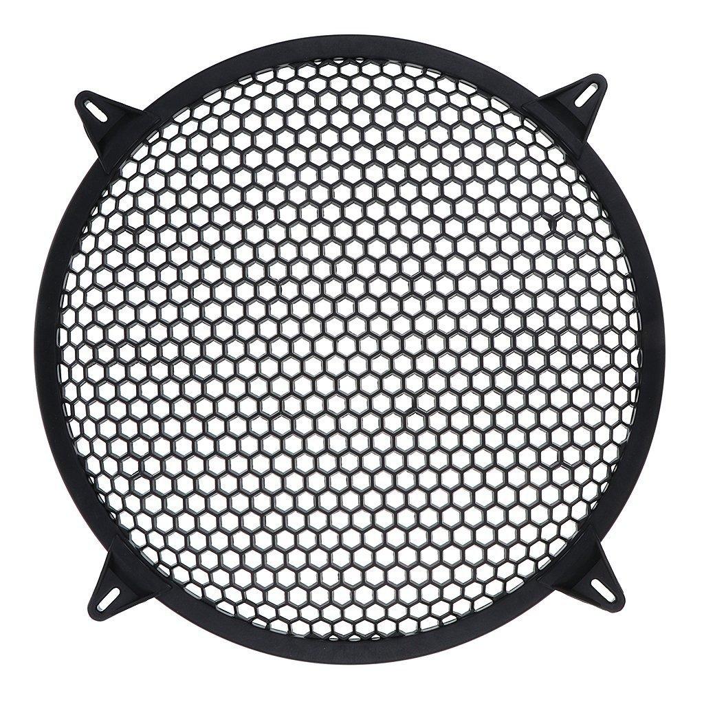 Cikuso Grille de subwoofer Haut-Parleur Amplificateur Couvercle Grill Maille Voiture 10 Pouce