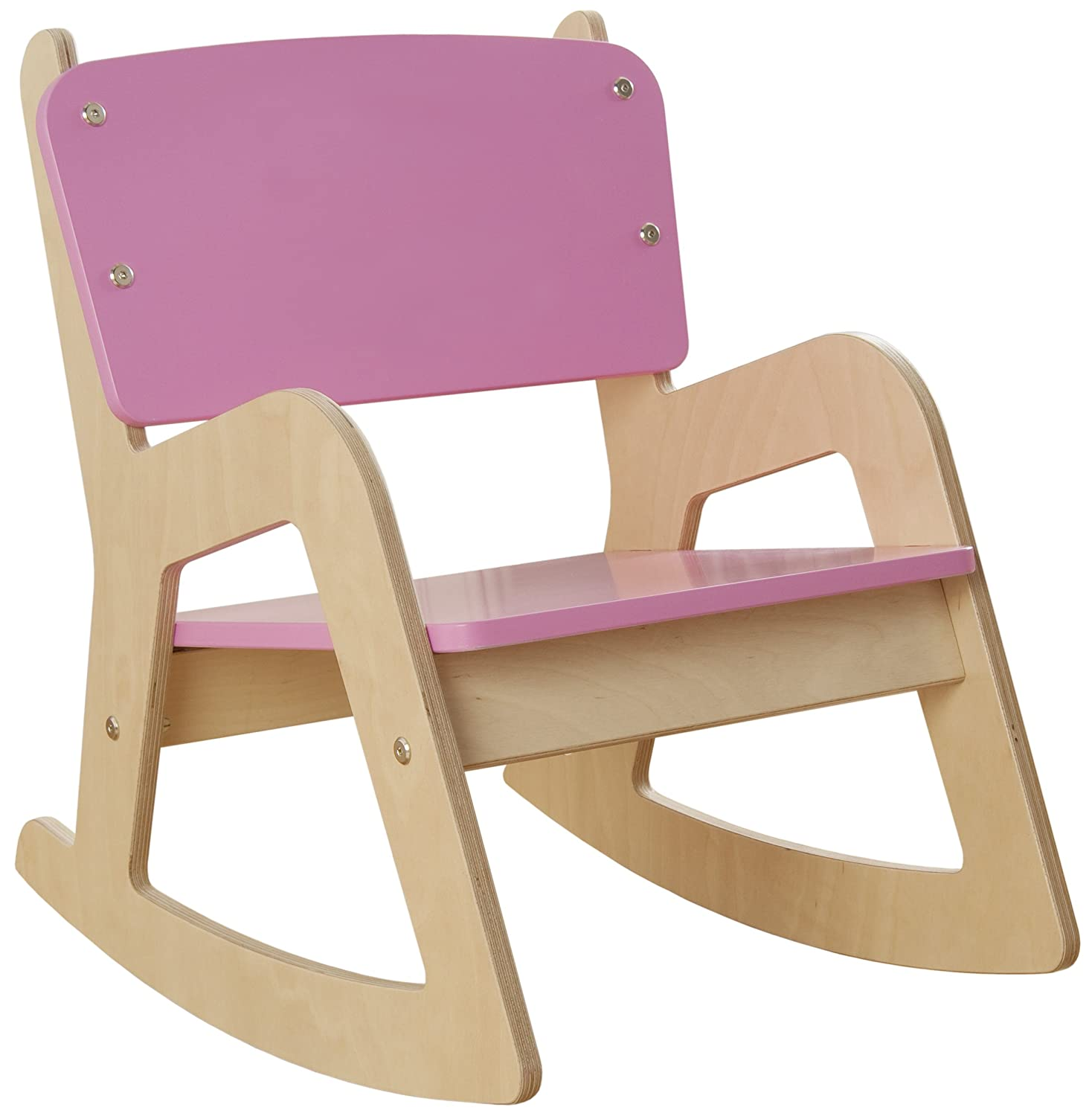 millhouse children s wooden rocking chair pink amazon co uk
