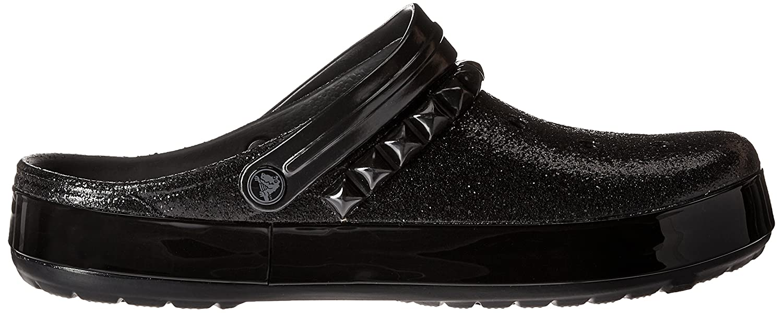 crocs Crocband Leopard Clog, Unisex-Erwachsene Clogs, Schwarz (Black 001), 37/38 EU (M4/W5 Unisex-Erwachsene UK)