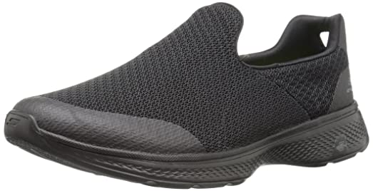 54155 BBK Skechers Schuhe Go Walk 4 Expert schwarz Herren 2017 Textil